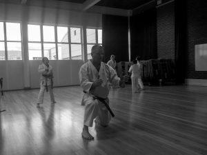 Sensei Andy at Eastleigh Shotokan Karate Club